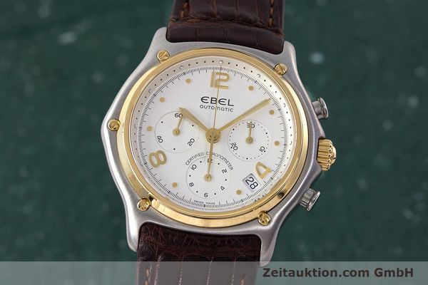 Used luxury watch Ebel 1911 chronograph steel / gold automatic Kal. 137 Ref. 1137240  | 161725 04