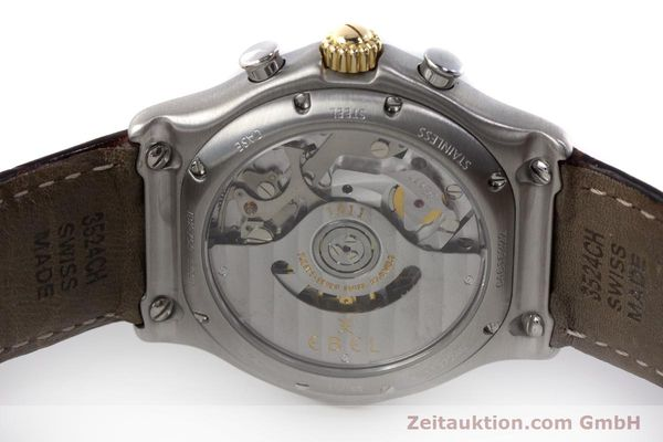 Used luxury watch Ebel 1911 chronograph steel / gold automatic Kal. 137 Ref. 1137240  | 161725 09
