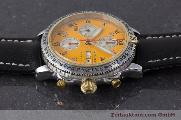 Used luxury watch Longines Lindbergh Stundenwinkel chronograph steel / gold automatic Kal. L674.8 ETA 7750 Ref. L2.618.5  | 161728 05