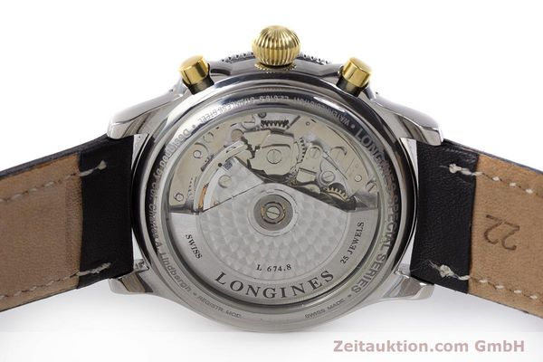 Used luxury watch Longines Lindbergh Stundenwinkel chronograph steel / gold automatic Kal. L674.8 ETA 7750 Ref. L2.618.5  | 161728 09