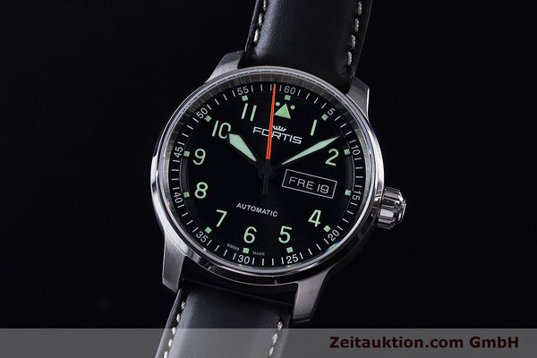 Used luxury watch Fortis Flieger steel automatic Ref. 704.21.158  | 161737 04