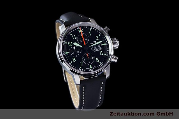 Used luxury watch Fortis Flieger Chronograph chronograph steel automatic Ref. 705.21.141  | 161738 01