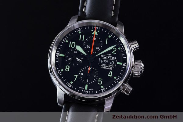 Used luxury watch Fortis Flieger Chronograph chronograph steel automatic Ref. 705.21.141  | 161738 04