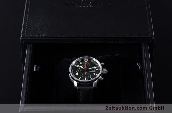 Used luxury watch Fortis Flieger Chronograph chronograph steel automatic Ref. 705.21.141  | 161738 07