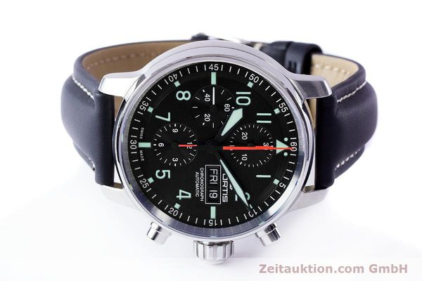 Used luxury watch Fortis Flieger Chronograph chronograph steel automatic Ref. 705.21.141  | 161738 09
