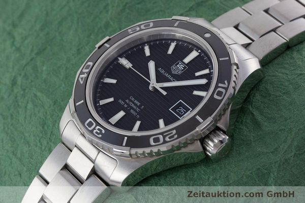 Used luxury watch Tag Heuer Aquaracer steel automatic Kal. 5 Sellita SW200-1 Ref. WAK2110  | 161744 01