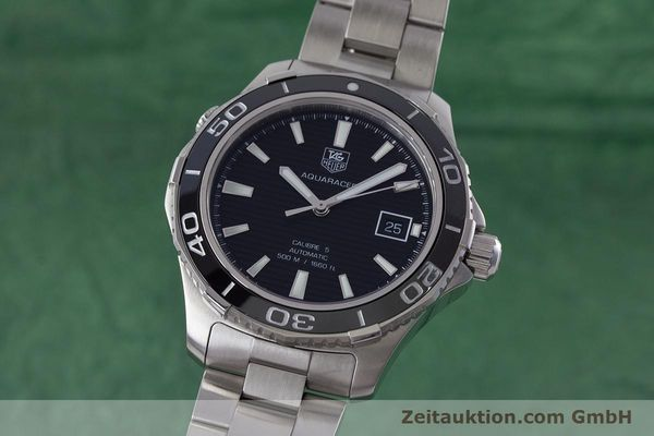 Used luxury watch Tag Heuer Aquaracer steel automatic Kal. 5 Sellita SW200-1 Ref. WAK2110  | 161744 04