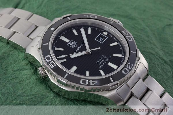 Used luxury watch Tag Heuer Aquaracer steel automatic Kal. 5 Sellita SW200-1 Ref. WAK2110  | 161744 17