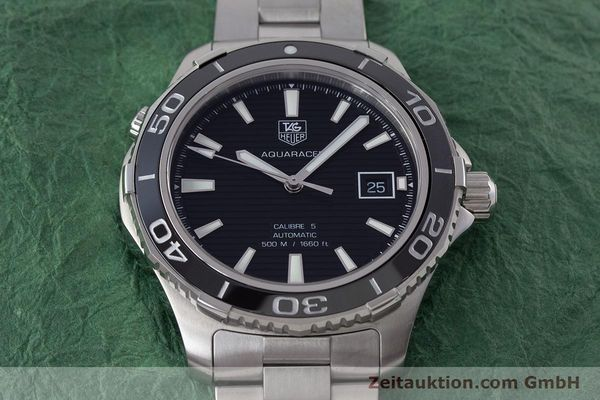 Used luxury watch Tag Heuer Aquaracer steel automatic Kal. 5 Sellita SW200-1 Ref. WAK2110  | 161744 18