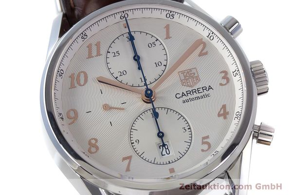 Used luxury watch Tag Heuer Carrera chronograph steel automatic Kal. 16 ETA 7750 Ref. CAS2112  | 161745 02
