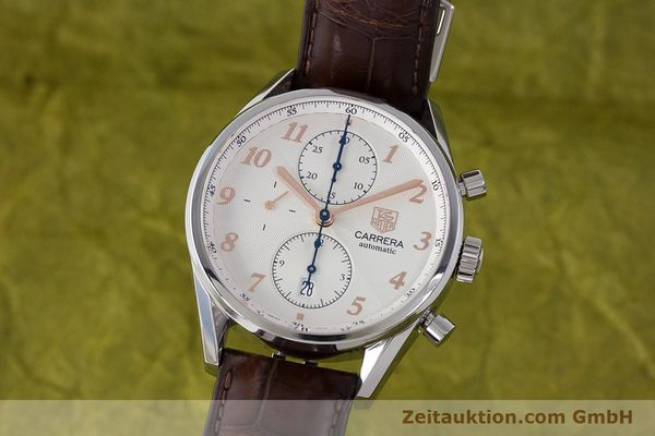 Used luxury watch Tag Heuer Carrera chronograph steel automatic Kal. 16 ETA 7750 Ref. CAS2112  | 161745 04