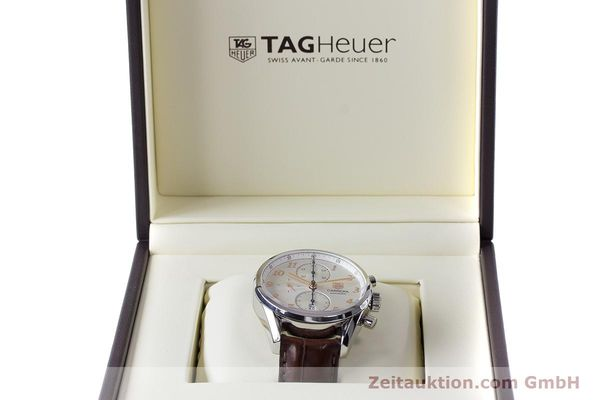Used luxury watch Tag Heuer Carrera chronograph steel automatic Kal. 16 ETA 7750 Ref. CAS2112  | 161745 07