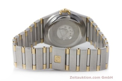 OMEGA LADY CONSTELLATION GOLD / STAHL AUTOMATIK DAMENUHR DATUM VP: 5100,- EURO [161747]