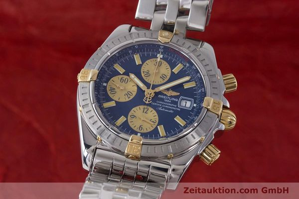 BREITLING EVOLUTION CHRONOGRAPHE ACIER / OR AUTOMATIQUE KAL. B13 ETA 7750 LP: 8390EUR [161758]