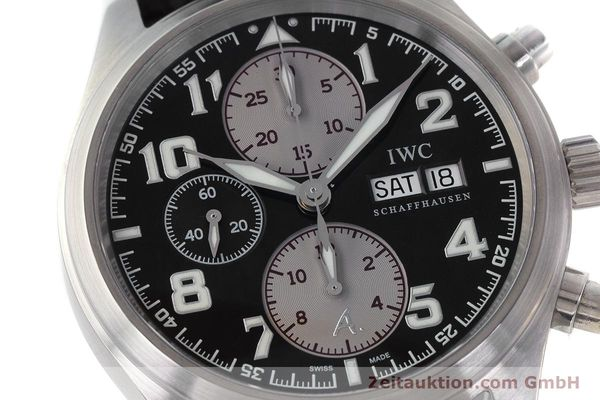 Used luxury watch IWC Fliegeruhr chronograph steel automatic Kal. 79320 Ref. 3717 LIMITED EDITION | 161759 02