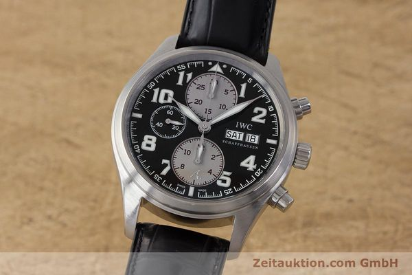 Used luxury watch IWC Fliegeruhr chronograph steel automatic Kal. 79320 Ref. 3717 LIMITED EDITION | 161759 04