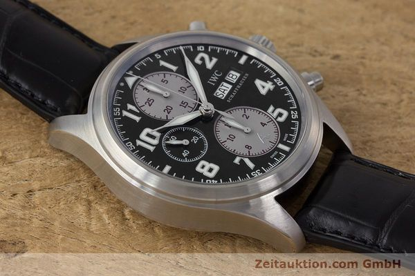 Used luxury watch IWC Fliegeruhr chronograph steel automatic Kal. 79320 Ref. 3717 LIMITED EDITION | 161759 15