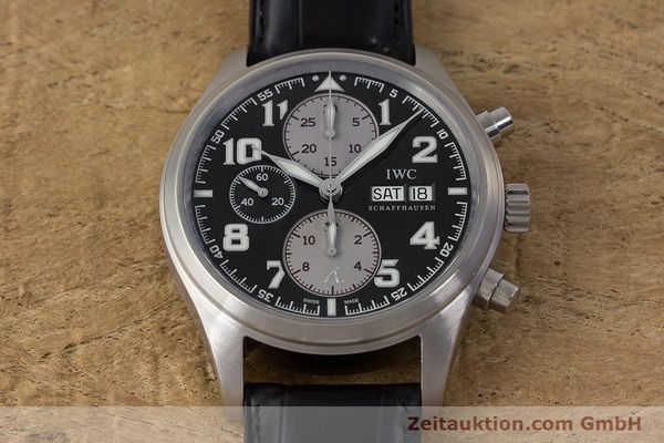 Used luxury watch IWC Fliegeruhr chronograph steel automatic Kal. 79320 Ref. 3717 LIMITED EDITION | 161759 16