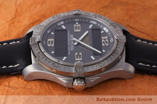 Used luxury watch Breitling Aerospace chronograph titanium quartz Kal. B79 ETA E10.451 Ref. E79362  | 161763 05
