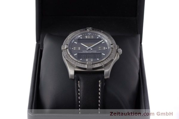 Used luxury watch Breitling Aerospace chronograph titanium quartz Kal. B79 ETA E10.451 Ref. E79362  | 161763 07