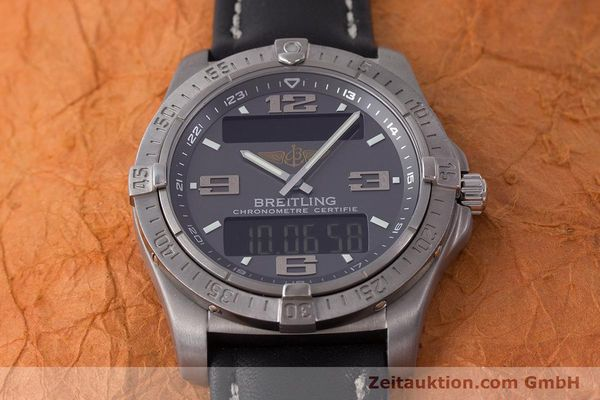 Used luxury watch Breitling Aerospace chronograph titanium quartz Kal. B79 ETA E10.451 Ref. E79362  | 161763 15