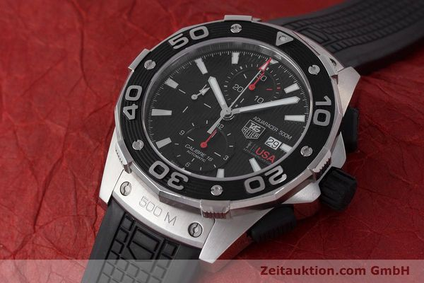 Used luxury watch Tag Heuer Aquaracer chronograph steel automatic Kal. 16 Selitta 500 Ref. CAJ2111  | 161765 01
