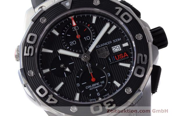 Used luxury watch Tag Heuer Aquaracer chronograph steel automatic Kal. 16 Selitta 500 Ref. CAJ2111  | 161765 02