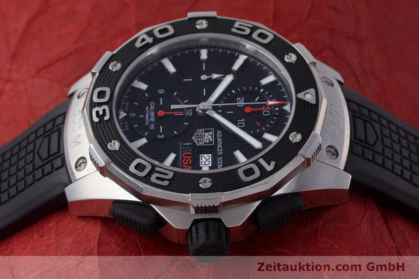 Used luxury watch Tag Heuer Aquaracer chronograph steel automatic Kal. 16 Selitta 500 Ref. CAJ2111  | 161765 05