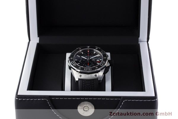 Used luxury watch Tag Heuer Aquaracer chronograph steel automatic Kal. 16 Selitta 500 Ref. CAJ2111  | 161765 07