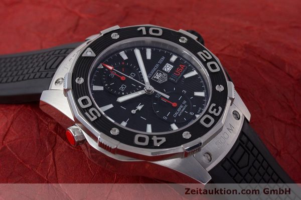 Used luxury watch Tag Heuer Aquaracer chronograph steel automatic Kal. 16 Selitta 500 Ref. CAJ2111  | 161765 15