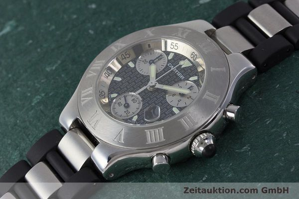 Used luxury watch Cartier Chronoscaph 21 chronograph steel quartz Kal. 372 ETA 251372 Ref. 2424  | 161766 01