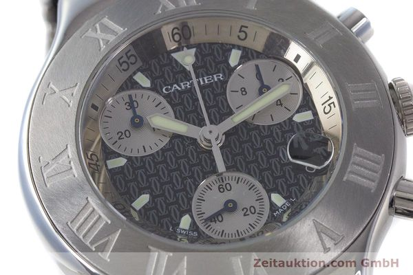 Used luxury watch Cartier Chronoscaph 21 chronograph steel quartz Kal. 372 ETA 251372 Ref. 2424  | 161766 02