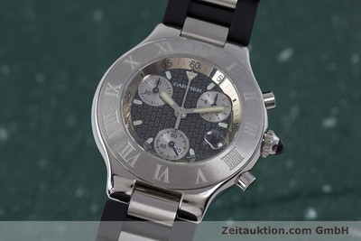 CARTIER CHRONOSCAPH 21 CHRONOGRAPH HERRENUHR MEDIUM STAHL / KAUTSCHUK [161766]