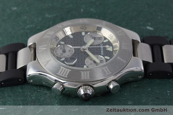 Used luxury watch Cartier Chronoscaph 21 chronograph steel quartz Kal. 372 ETA 251372 Ref. 2424  | 161766 05