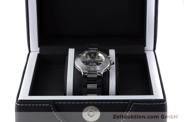Used luxury watch Cartier Chronoscaph 21 chronograph steel quartz Kal. 372 ETA 251372 Ref. 2424  | 161766 07
