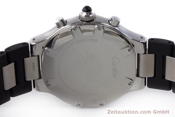 Used luxury watch Cartier Chronoscaph 21 chronograph steel quartz Kal. 372 ETA 251372 Ref. 2424  | 161766 09