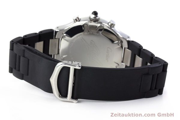 Used luxury watch Cartier Chronoscaph 21 chronograph steel quartz Kal. 372 ETA 251372 Ref. 2424  | 161766 10