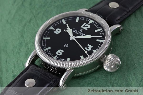 Used luxury watch Chronoswiss Timemaster steel manual winding Kal. 672 Ref. CH6233  | 161768 01