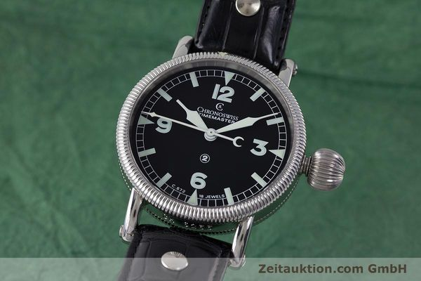 Used luxury watch Chronoswiss Timemaster steel manual winding Kal. 672 Ref. CH6233  | 161768 04