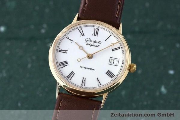 GLASHÜTTE OR JAUNEN 14 CT AUTOMATIQUE KAL. GUB 10-30 LP: 14100EUR [161770]