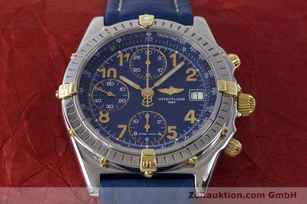 Used luxury watch Breitling Chronomat chronograph steel / gold automatic Kal. B13 ETA 7750 Ref. B13050.1  | 161771 16
