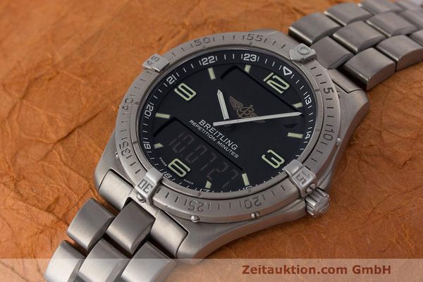 Used luxury watch Breitling Aerospace titanium quartz Kal. B65 ETA E10.391 Ref. E65062  | 161772 01