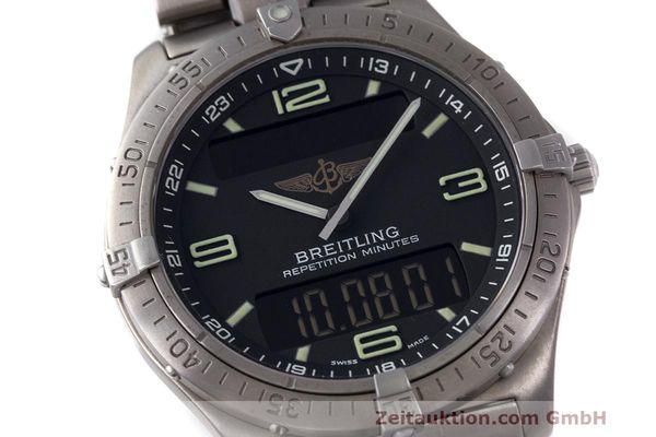 Used luxury watch Breitling Aerospace titanium quartz Kal. B65 ETA E10.391 Ref. E65062  | 161772 02