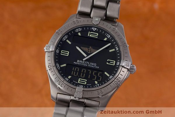 Used luxury watch Breitling Aerospace titanium quartz Kal. B65 ETA E10.391 Ref. E65062  | 161772 04