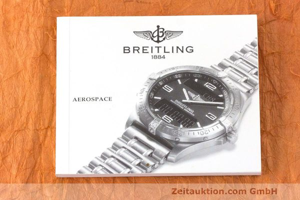 Used luxury watch Breitling Aerospace titanium quartz Kal. B65 ETA E10.391 Ref. E65062  | 161772 12
