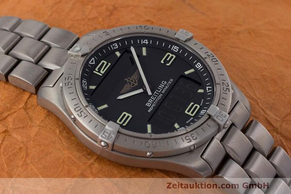 Used luxury watch Breitling Aerospace titanium quartz Kal. B65 ETA E10.391 Ref. E65062  | 161772 14