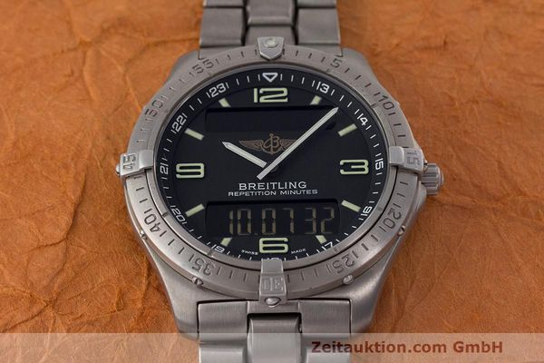 Used luxury watch Breitling Aerospace titanium quartz Kal. B65 ETA E10.391 Ref. E65062  | 161772 15