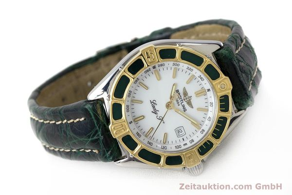Used luxury watch Breitling Lady J steel / gold quartz Kal. B52 ETA 956.112 Ref. D52065  | 161787 03