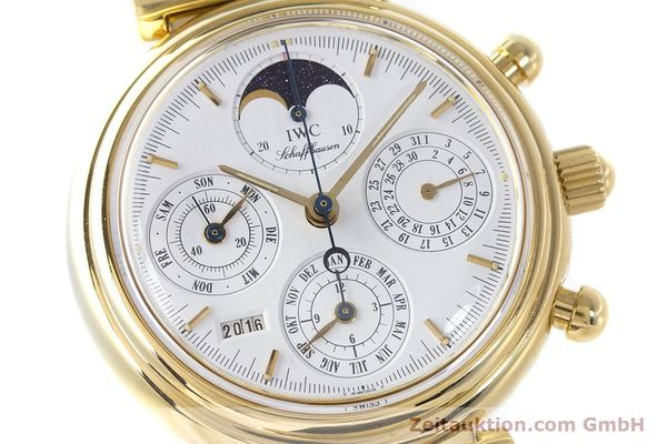 Used luxury watch IWC Da Vinci chronograph 18 ct gold automatic Kal. 79061 Ref. 3750  | 161789 02