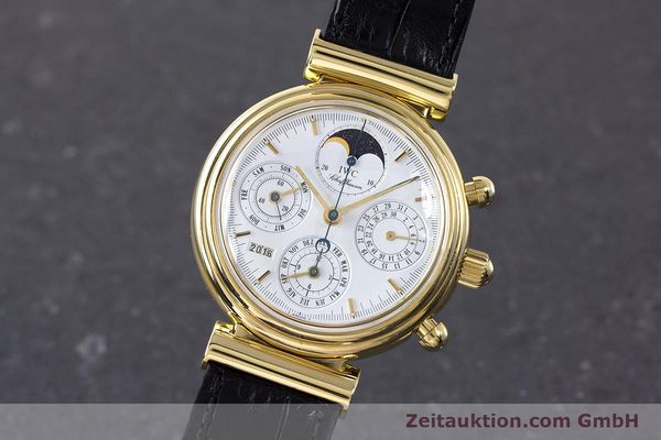 Used luxury watch IWC Da Vinci chronograph 18 ct gold automatic Kal. 79061 Ref. 3750  | 161789 04